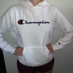 Champion // white hoodie